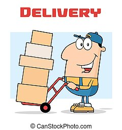 Delivery Man Cartoon Character