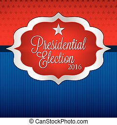 Label American election card in vector format