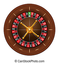 Casino gambling roulette wheel illustration isolated on...