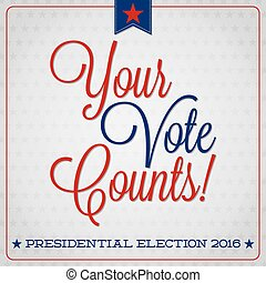 American election typographic card in vector format