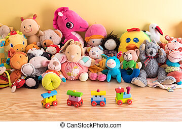 Soft toys in a child's bedroom