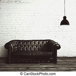 cuero,  sofá