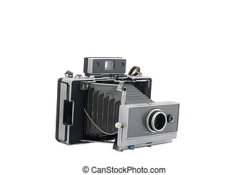 Vintage instant camera isolated on white