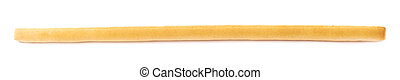 Single bread stick isolated over the white background
