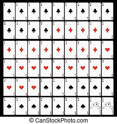 cards set game vector illustration