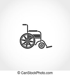 wheel chair icon - wheel chair web icon. Airport navigation...
