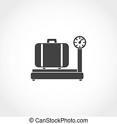 weighing luggage icon - weighing luggage web icon Airport...