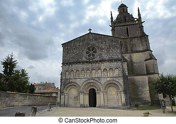 Medieval church in Saint-Fort Gironde - Exterior of medieval...