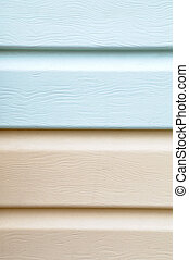 vinyl siding material for cladding - Pattern of light blue...