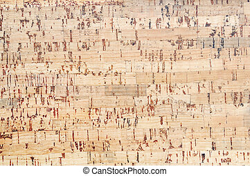 cork board flooring background - Pattern of yellow brown...