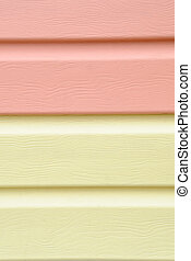 yellow vinyl siding material for cladding - Pattern of red...