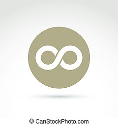 Vector infinity icon isolated on white background,...
