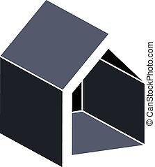 Property developer conceptual business vector icon. Building modeling and engineering projects abstract symbol. Simple house depiction.
