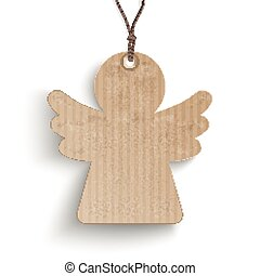 Carton Angel Price Sticker - Cardboard angel price sticker...