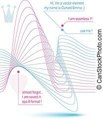 3d motif elegant flowing curves, light dynamic background,...