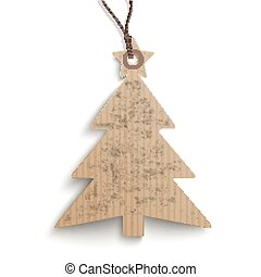 Carton Hanging Christmas Tree Price Sticker - Cardboard...
