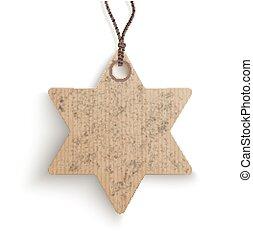 Carton Hanging David Star Price Sticker - Cardboard hanging...