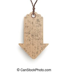 Carton Hanging Price Sticker Arrow - Cardboard hanging price...