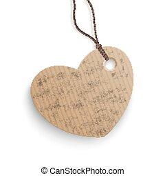 Carton Hanging Price Sticker Heart - Cardboard hanging price...