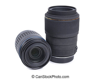 Lenses - Photographic lenses on white background