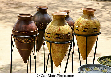 African Pottery - Pottery in Accra Ghana