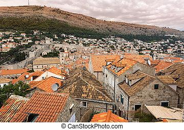 Historic buildings in Dubrovnik, Croatia