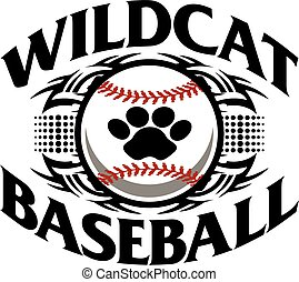 wildcat baseball - tribal wildcat baseball team design with...
