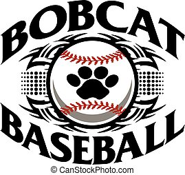 bobcat baseball - tribal bobcat baseball team design with...