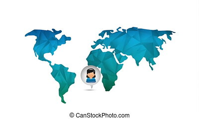 World icon design, Video Animation HD1080