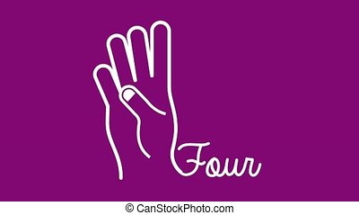 hand gestures design and count, Video Animation HD1080