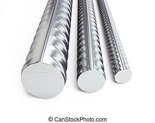 reinforcing steel - reinforcing steel. 3d Illustrations on a...