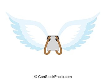 Angel wings Backpack with white wings Cupids wings to spare...