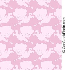 Cupid seamless pattern Romantic background of little angels...
