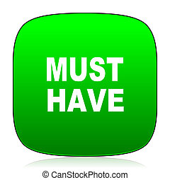 must have green icon for web and mobile app