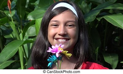 Happy Young Hispanic Girl