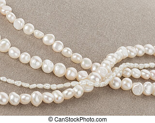 pearl beads on velvet - beautiful brilliant white pearl...