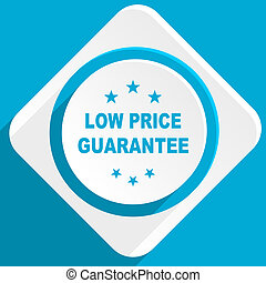 low price guarantee blue flat design modern icon for web and...