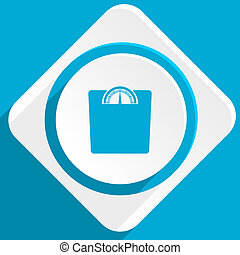 weight blue flat design modern icon for web and mobile app