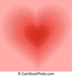 abstract pink background of hearts - abstract pink...