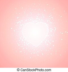 pink background of little hearts - pink background of...
