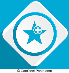 star blue flat design modern icon for web and mobile app