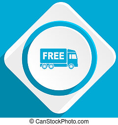 free delivery blue flat design modern icon for web and...