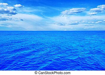 blue sea - Beautiful sky and blue sea