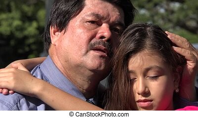 Father and Daughter Hug and Embrace