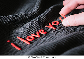 Confession of Love - Man wrote a confession of love in red...