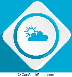 cloud blue flat design modern icon for web and mobile app