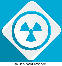 radiation blue flat design modern icon for web and mobile...