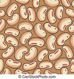 Seamless background with haricot - Texture of haricot beans...