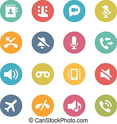 Web and Mobile Icons 1 - Icons and buttons in different...
