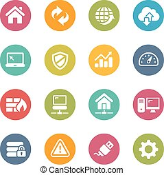 Web Developer Icons - Icons and buttons in different layers,...